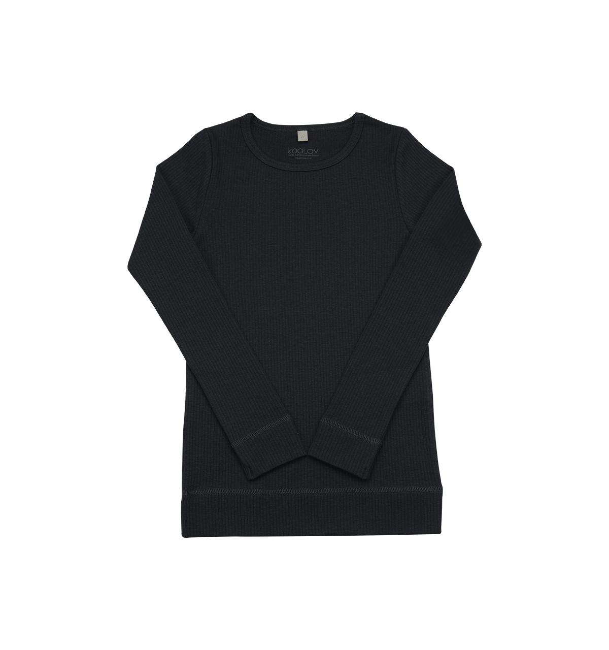 Koalav - Kendinden Fitilli Uzun Kollu Antrasit T-Shirt